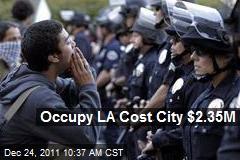 Occupy LA Cost City $2.35M