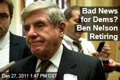 Democratic Nebraska Sen. Ben Nelson to Retire