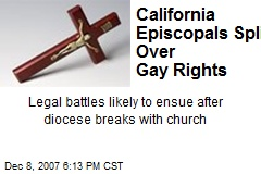California Episcopals Split Over Gay Rights
