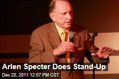 Arlen Specter Does Stand-Up Comedy at Helium Club in Philadelphia