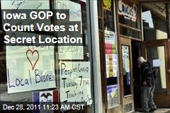 Iowa GOP to Count Caucus Votes at Secret Location
