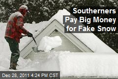 Southerners Pay Big Money for Fake Snow