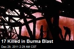 17 Killed in Burma Blast