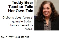 Teddy Bear Teacher Tells Her Own Tale