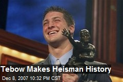 Tebow Makes Heisman History