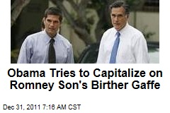 Matt Romney Apologizes for Joke About President Obama's Birth Certificate