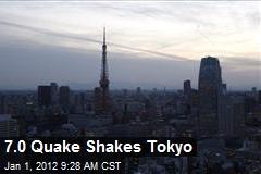 7.0 Quake Shakes Tokyo