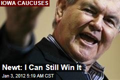 Newt Gingrich: I Can Still Win Iowa