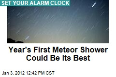 Year's First Meteor Shower Could Be Its Best - Quarantids to Peak at 3am
