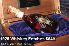 1926 Whiskey Fetches $54K