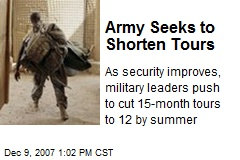 Army Seeks to Shorten Tours