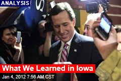 Rick Santorum, President Obama Seen as Real Winner of Iowa Caucuses