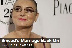 Sinead O'Connor's Marriage to Barry Hedridge Back On