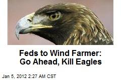 Feds to Wind Farmer: Go Ahead, Kill Eagles