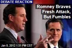 Mitt Romney Braves Fresh Attack in Republican Presidential Debate
