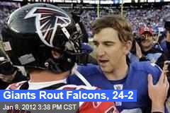 New York Giants Rout Atlanta Falcons in NFC Wild Card Game