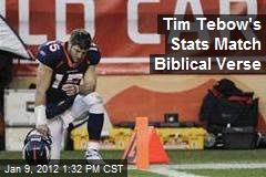 Tim Tebow's Stats Match Biblical Verse