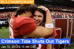 Crimson Tide Shuts Out Tigers