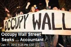 Occupy Wall Street Seeks ... Accountant