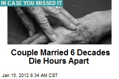 Couple Married 6 Decades Die Hours Apart