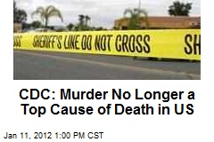 CDC: Murder No Longer a Top Cause of Death in US