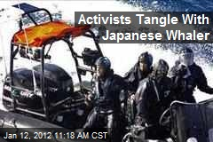 Activists Tangle With Japanese Whaler
