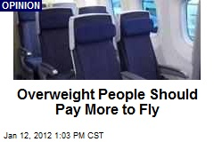 Overweight People Should Pay More to Fly