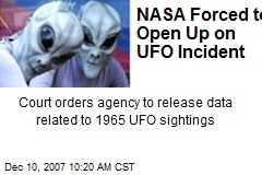 NASA Forced to Open Up on UFO Incident