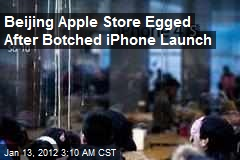 Beijing Apple Store Egged After Botched iPhone Launch
