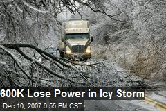 600K Lose Power in Icy Storm