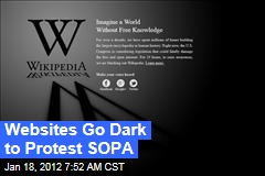 Websites Go Dark to Protest SOPA, PIPA