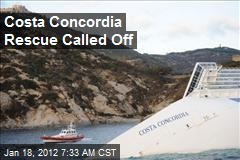 Rescue Operations Suspended at Costa Concordia