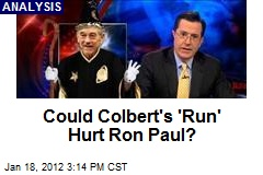 Could Colbert's 'Run' Hurt Ron Paul?