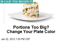 Portions Too Big? Change Your Plate Color