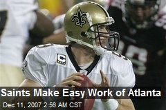 Saints Make Easy Work of Atlanta