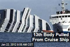 Costa Concordia: 13th Victim Pulled From Cruise Ship