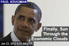 Paul Krugman: Economy May Be Improving