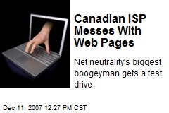 Canadian ISP Messes With Web Pages