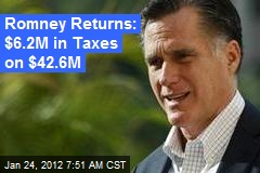 Mitt Returns Reveal $21M in Investment Income