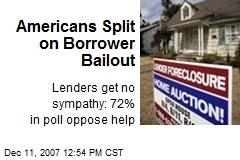 Americans Split on Borrower Bailout