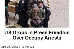 US Drops in Press Freedom Over Occupy Arrests