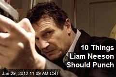 10 Things Liam Neeson Should Punch