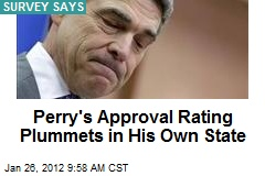 Perry's Approval Rating Plummets in His Own State