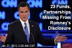 23 Funds, Partnerships Missing From Romney's Disclosure