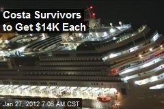Costa Survivors to Get $14K Each