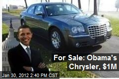 For Sale: Obama's Chrysler, $1M