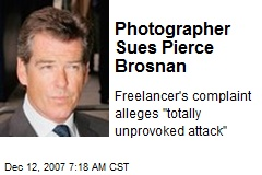 Photographer Sues Pierce Brosnan
