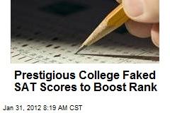 Prestigious College Faked SAT Scores to Boost Rank