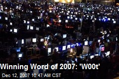Winning Word of 2007: 'W00t'