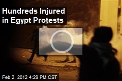 Hundreds Injured in Egypt Protests